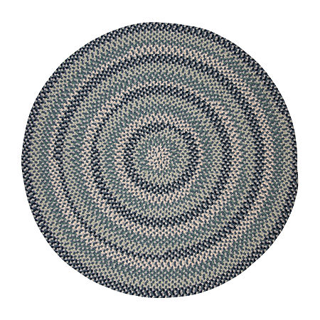 Colonial Mills Traditions Braided Round Reversible Indoor Rugs, One Size , Blue