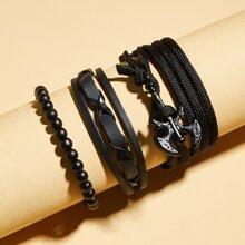 3pcs Tomahawk & Beaded Bracelet