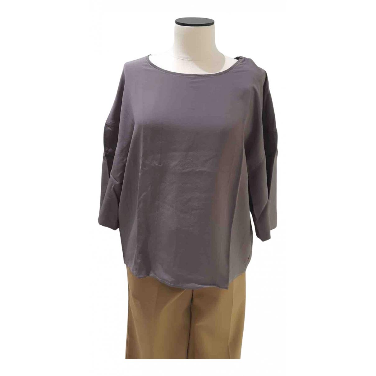 Lemaire - Top   pour femme en soie - violet