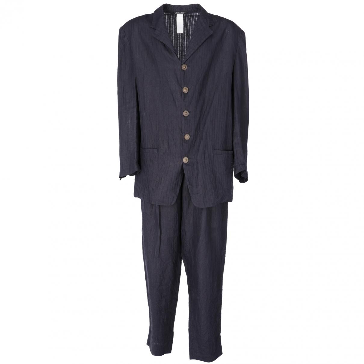 Versace \N Blue Linen Suits for Men 52 IT