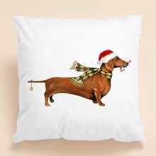 Weihnachten Kissenbezug mit Hund Muster ohne Fuelle