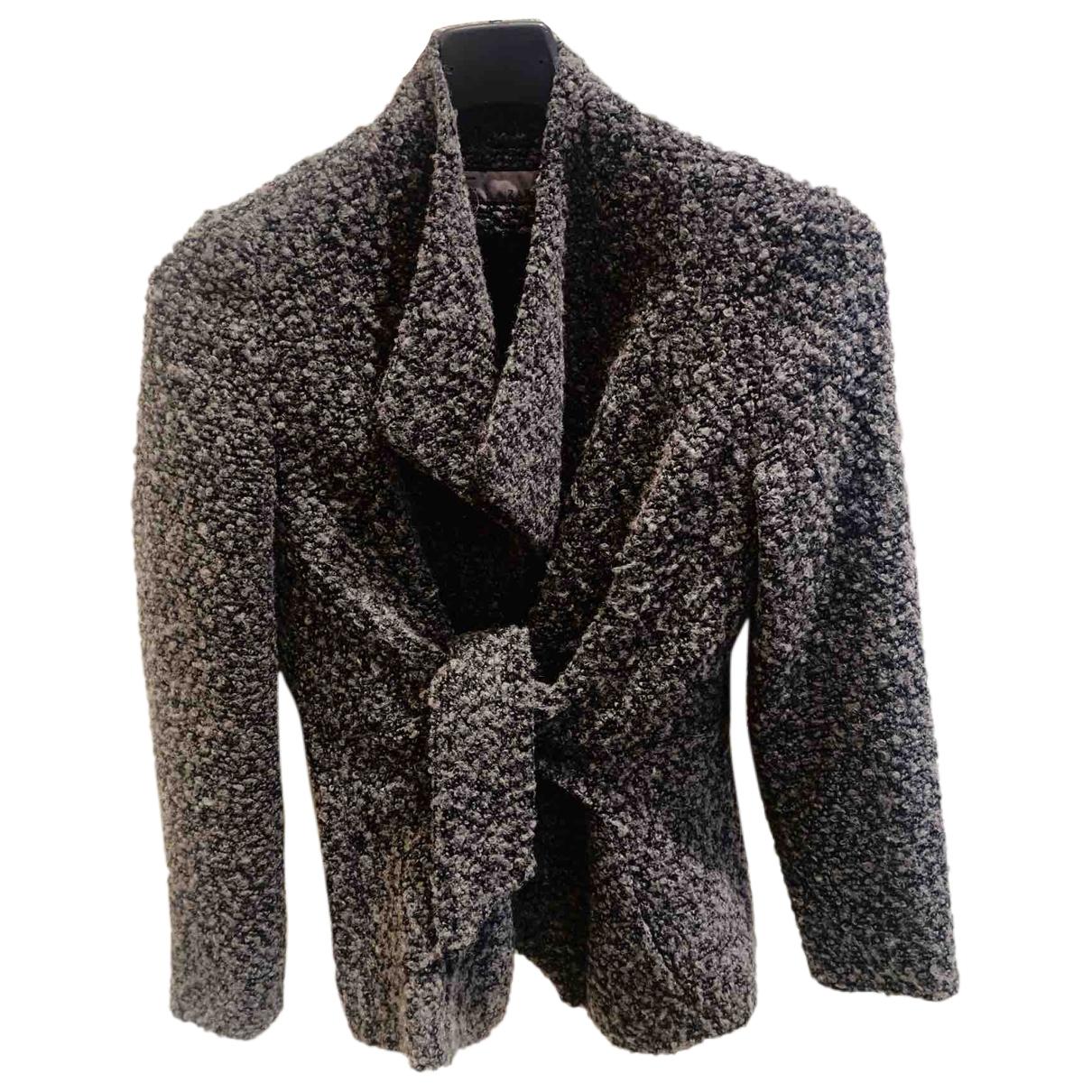 Zara \N Jacke in  Anthrazit Wolle