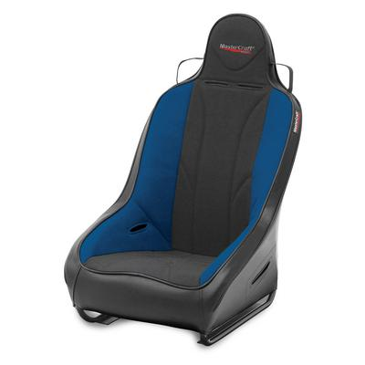 MasterCraft Safety 1 Inch WIDER PROSeat with Fixed Headrest (Black/ Blue) - 560113