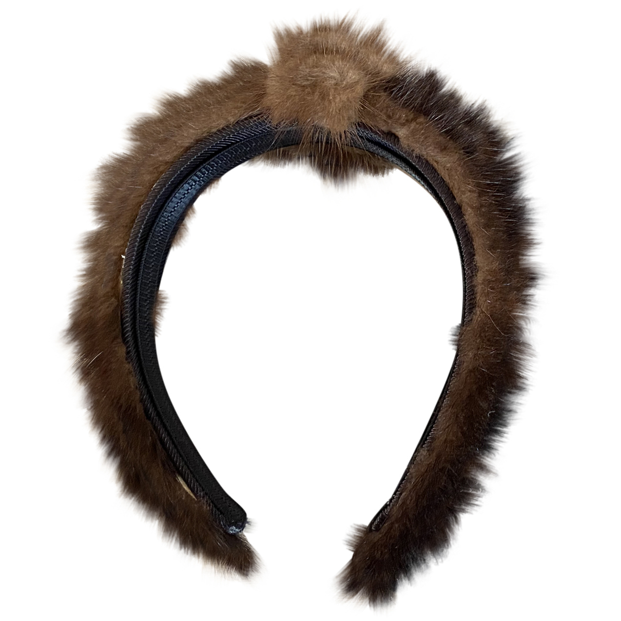 Non Signé / Unsigned N Brown Mink Hair accessories for Women N