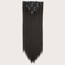 16 Stuecke Langen geraden Haarteilen