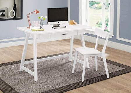 801108 2-Piece Desk Set with Writing Desk and Chair in