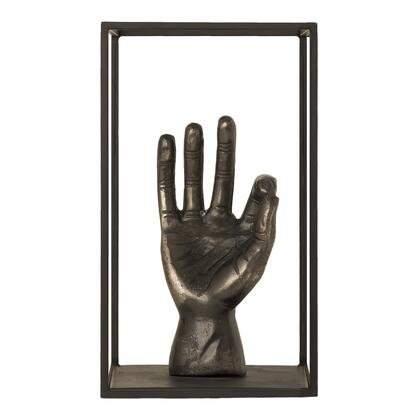 Ok Collection ZY-1026-54 Sculpture with Aluminum Frame in Brown