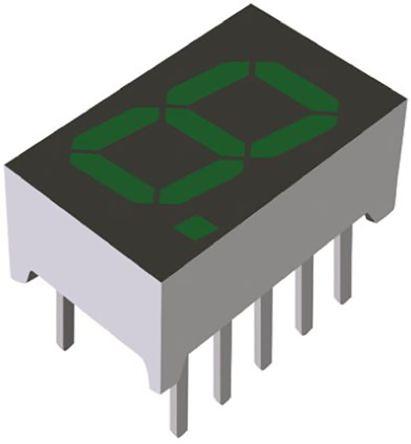 ROHM LA-301MB  7-Segment LED Display, CA Green 10 mcd RH DP 8mm (5)