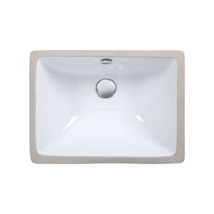CUM183RWT Undermount Sink  in 18.3-inch Rectangular Vitreous China