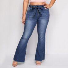 Blau  Reissverschluss  Vintage Jeans Grosse Grossen
