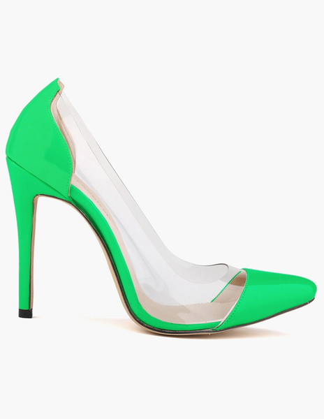Milanoo Encantadores zapatos puntiagudos de tacon patente PU mujer