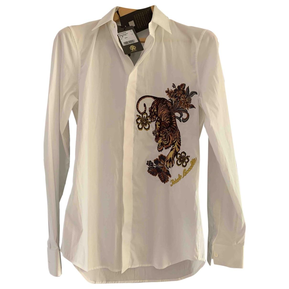 Roberto Cavalli - Chemises   pour homme en coton - blanc