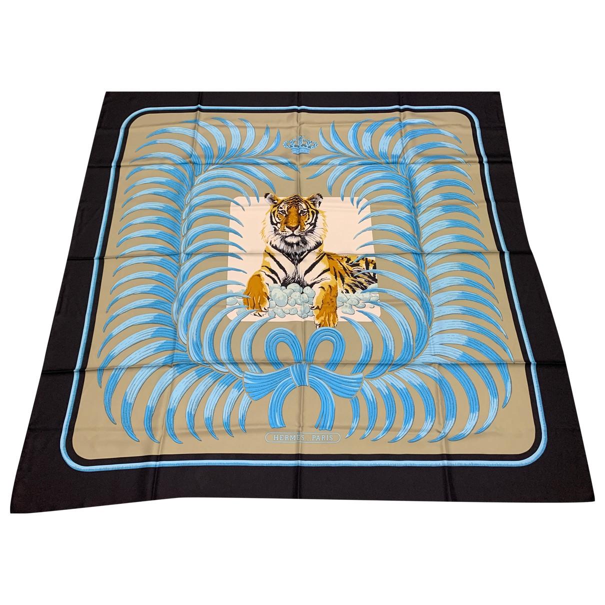 Hermes Carre Geant silk 140 Schal in  Schwarz Seide
