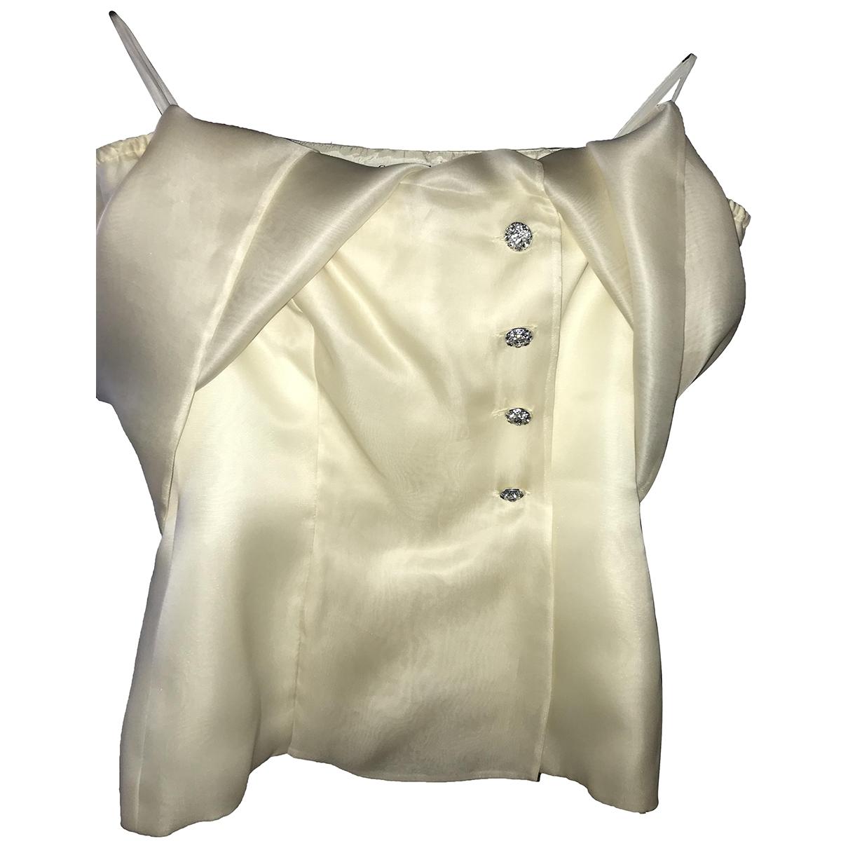 Guy Laroche \N Ecru Silk  top for Women 36 FR
