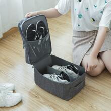 1 Stueck Schuhe Aufbewahrungstasche mit 2 Schichten