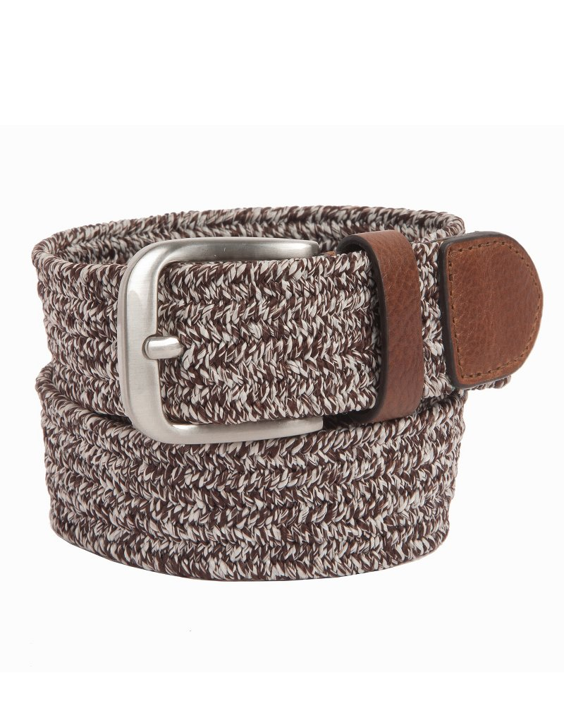 Heathered Fabric Braided Stretch Belt