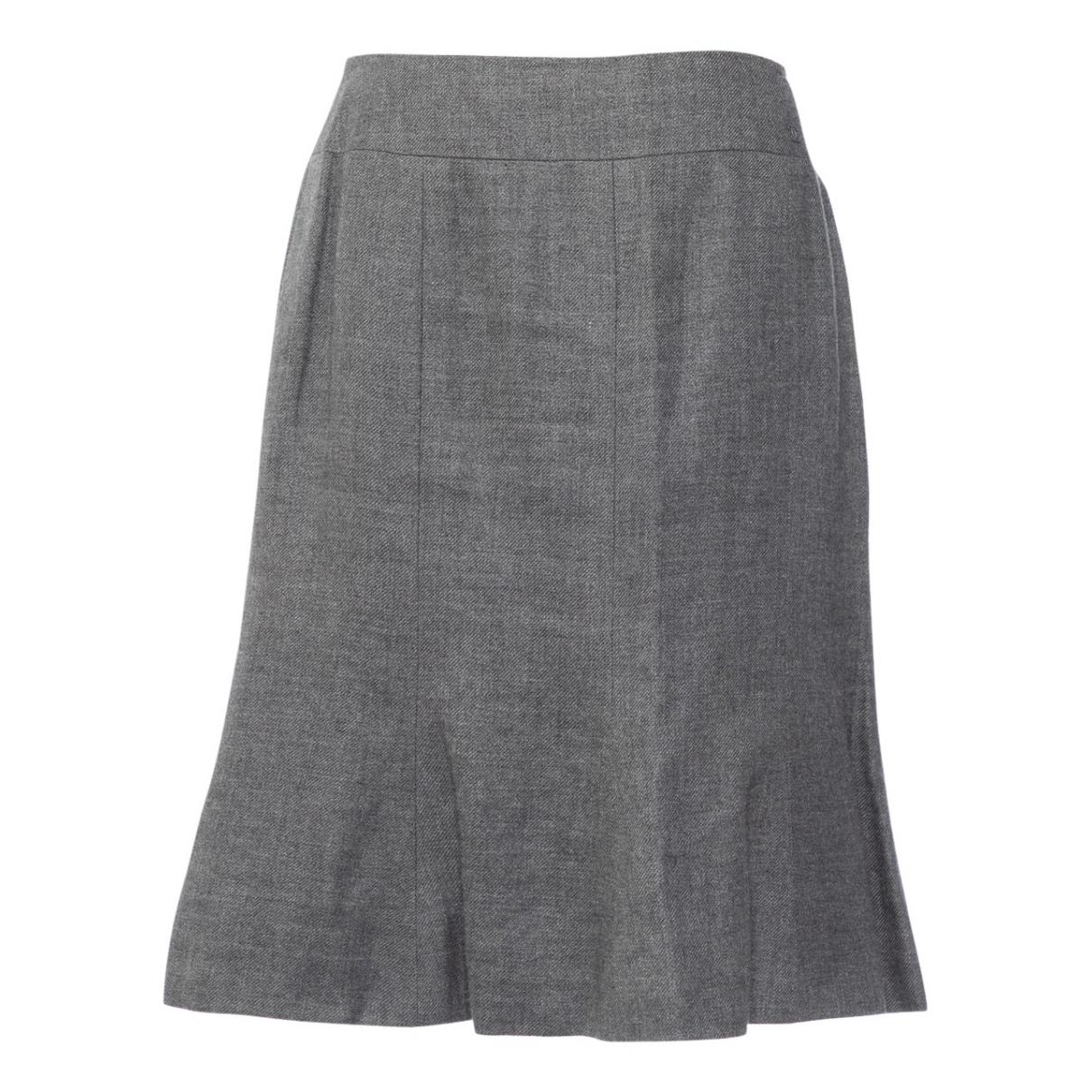Chanel - Jupe   pour femme en lin - gris