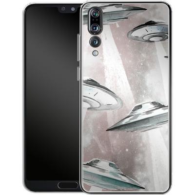 Huawei P20 Pro Silikon Handyhuelle - Beam Me Up UFO von caseable Designs