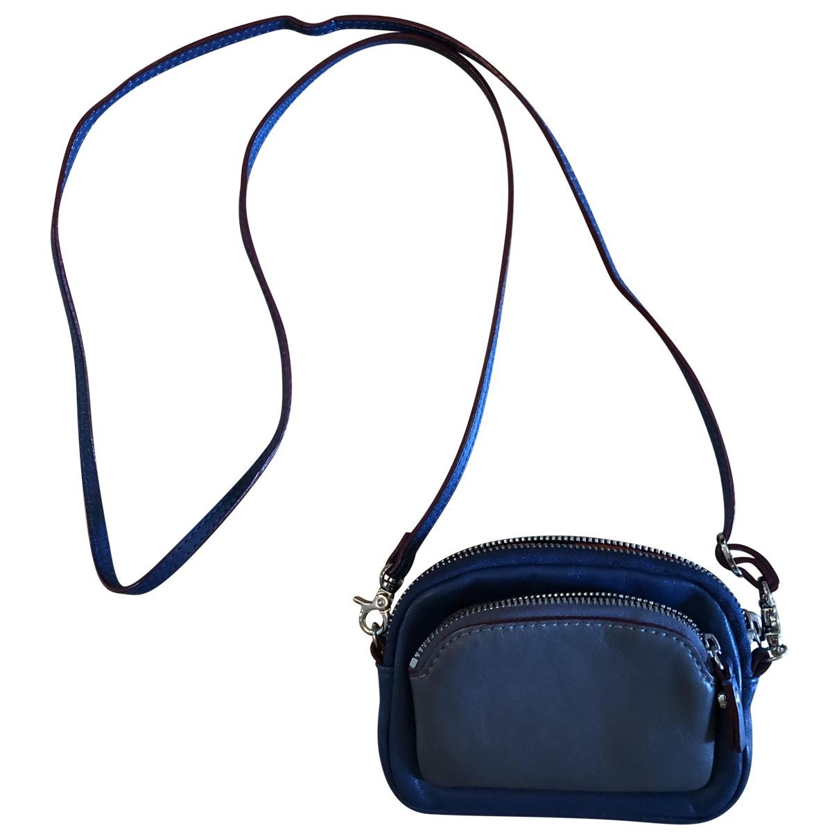 Mz Wallace - Pochette   pour femme en cuir - bleu