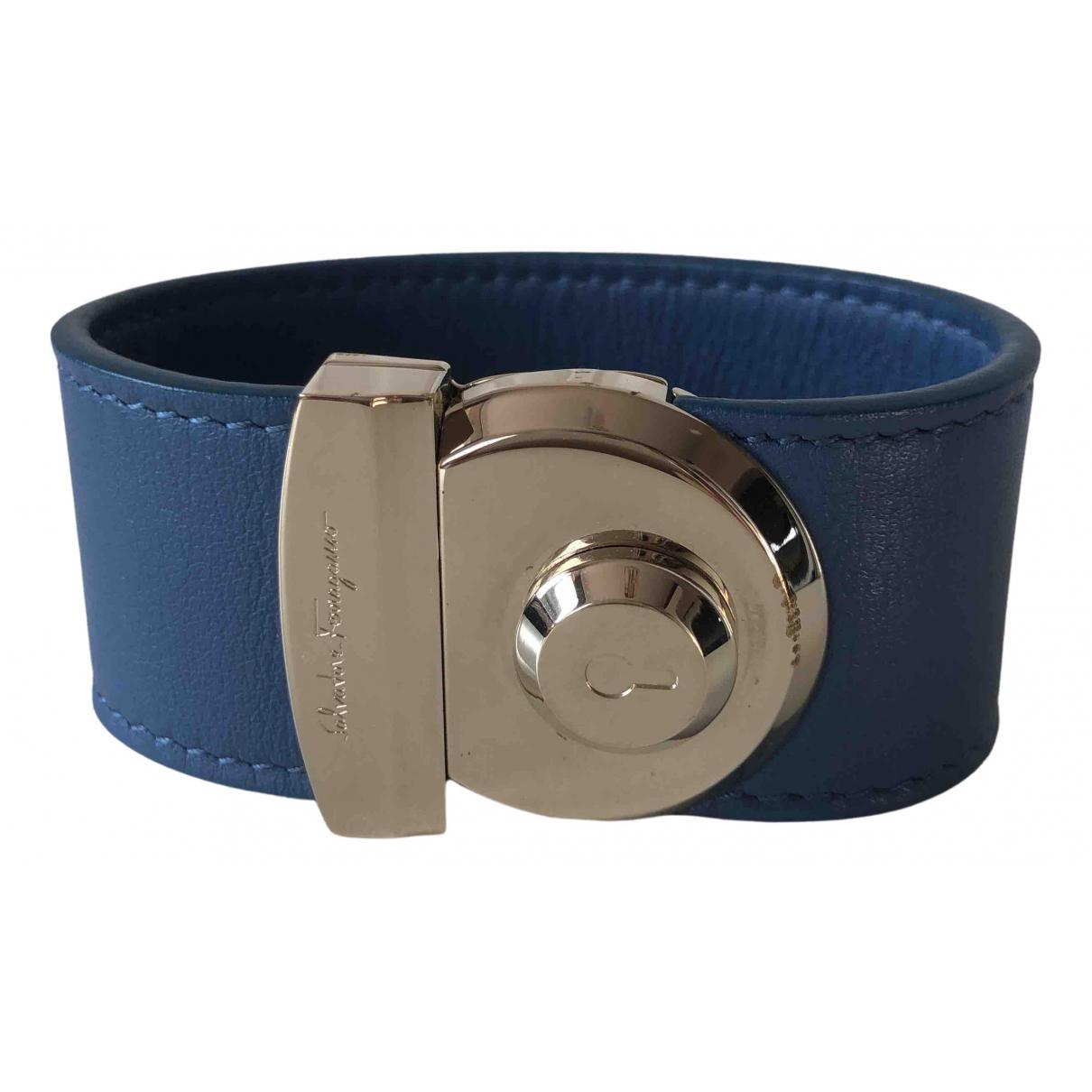 Salvatore Ferragamo \N Blue Leather bracelet for Women \N