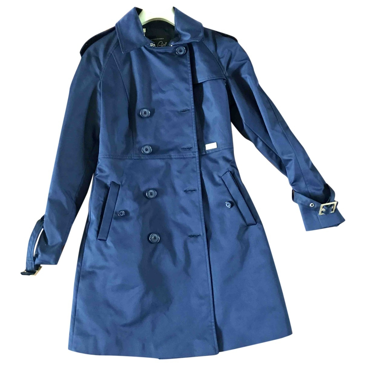 Non Signé / Unsigned \N Navy Cotton Trench coat for Women M International