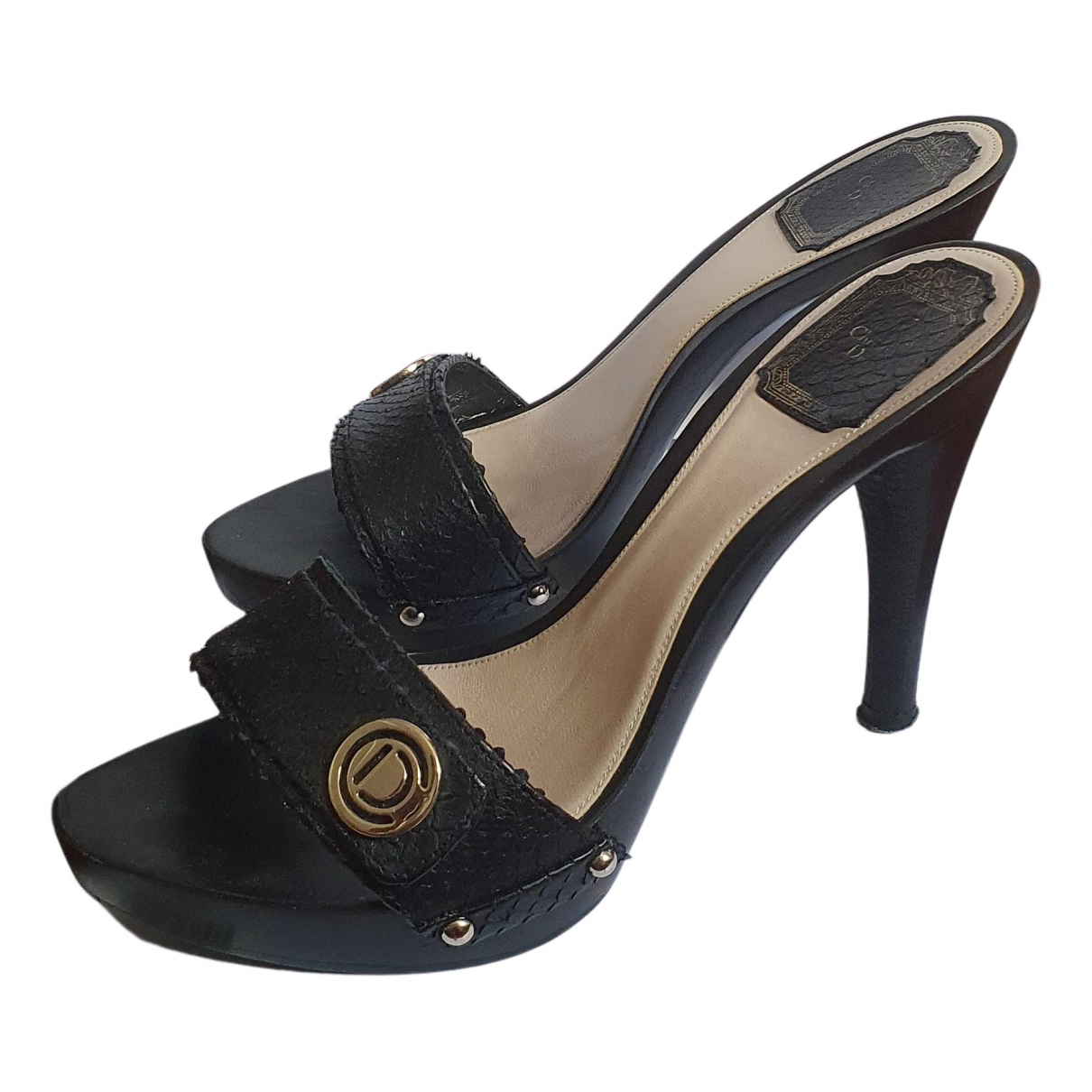 Dior \N Sandalen in  Schwarz Leder