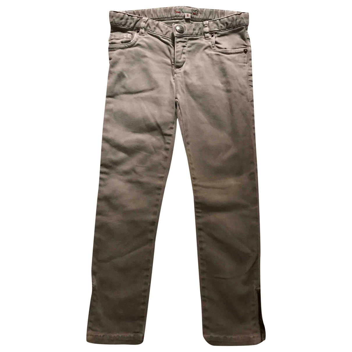 Bonpoint \N Grey Cotton Trousers for Kids 6 years - up to 114cm FR