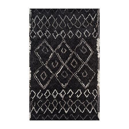 Momeni Margaux 3 Rectangular Indoor Rugs, One Size , Black