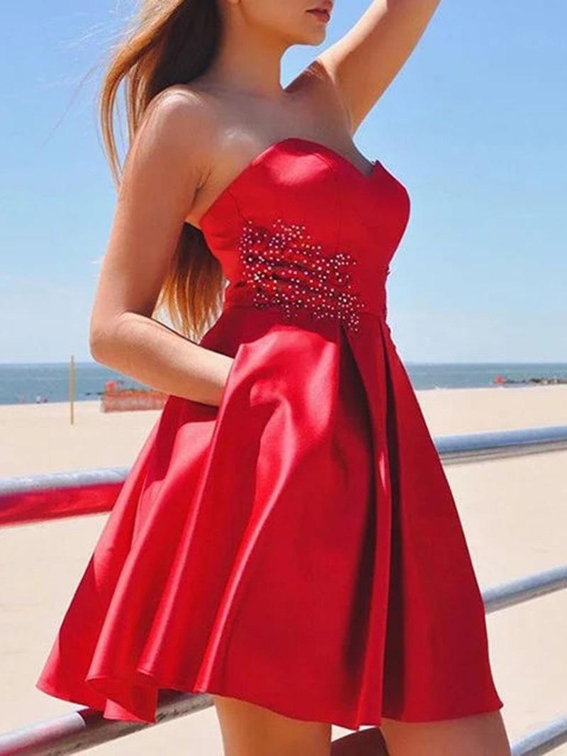 Ericdress Short Sleeveless A-Line Sweetheart Homecoming Dress