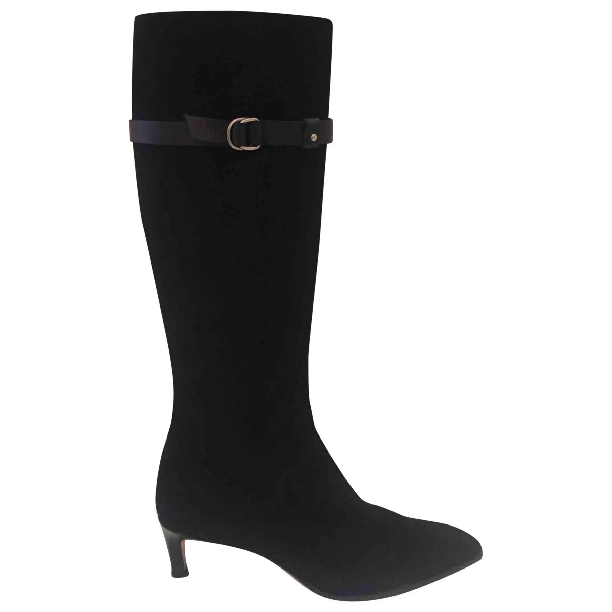 Ralph Lauren \N Black Suede Boots for Women 37.5 EU
