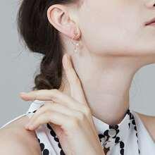 Faux Pearl & Star Drop Earrings