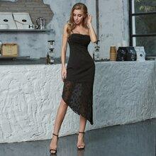 Double Crazy Cami Kleid mit Cutout hinten und Stern Applikation