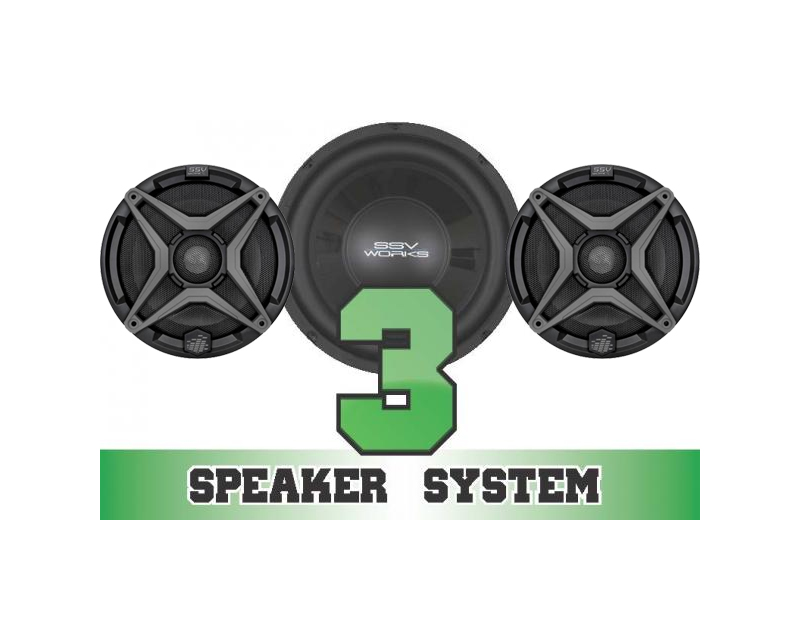SSV Works RZR-3 Complete 3 Speaker System Polaris RZR S 900 EPS 15-17