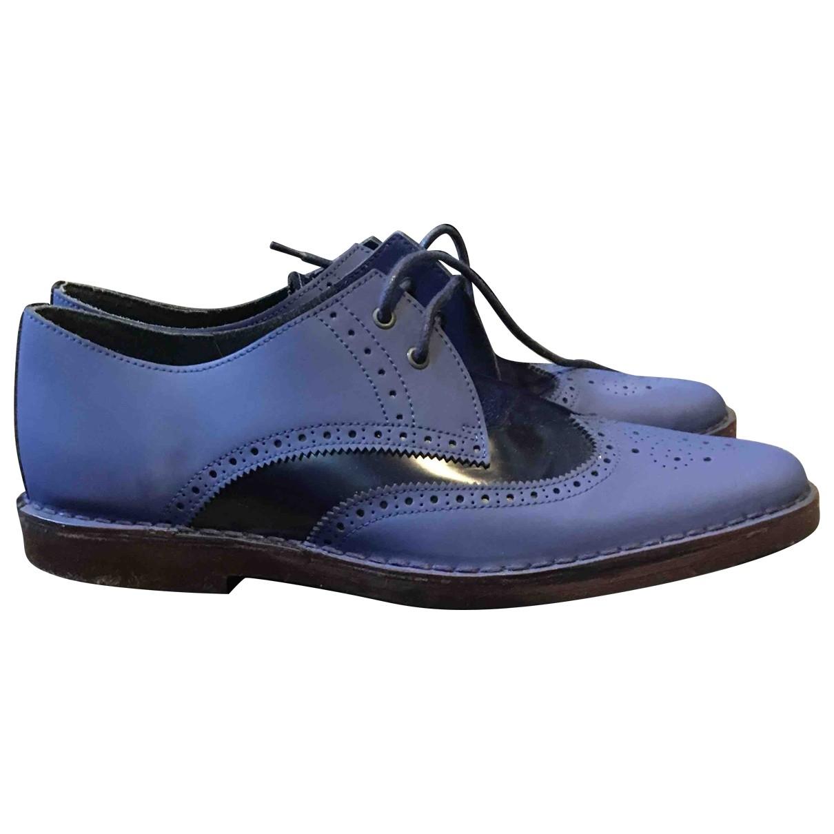 Pierre Hardy \N Schnuerschuhe in  Blau Leder