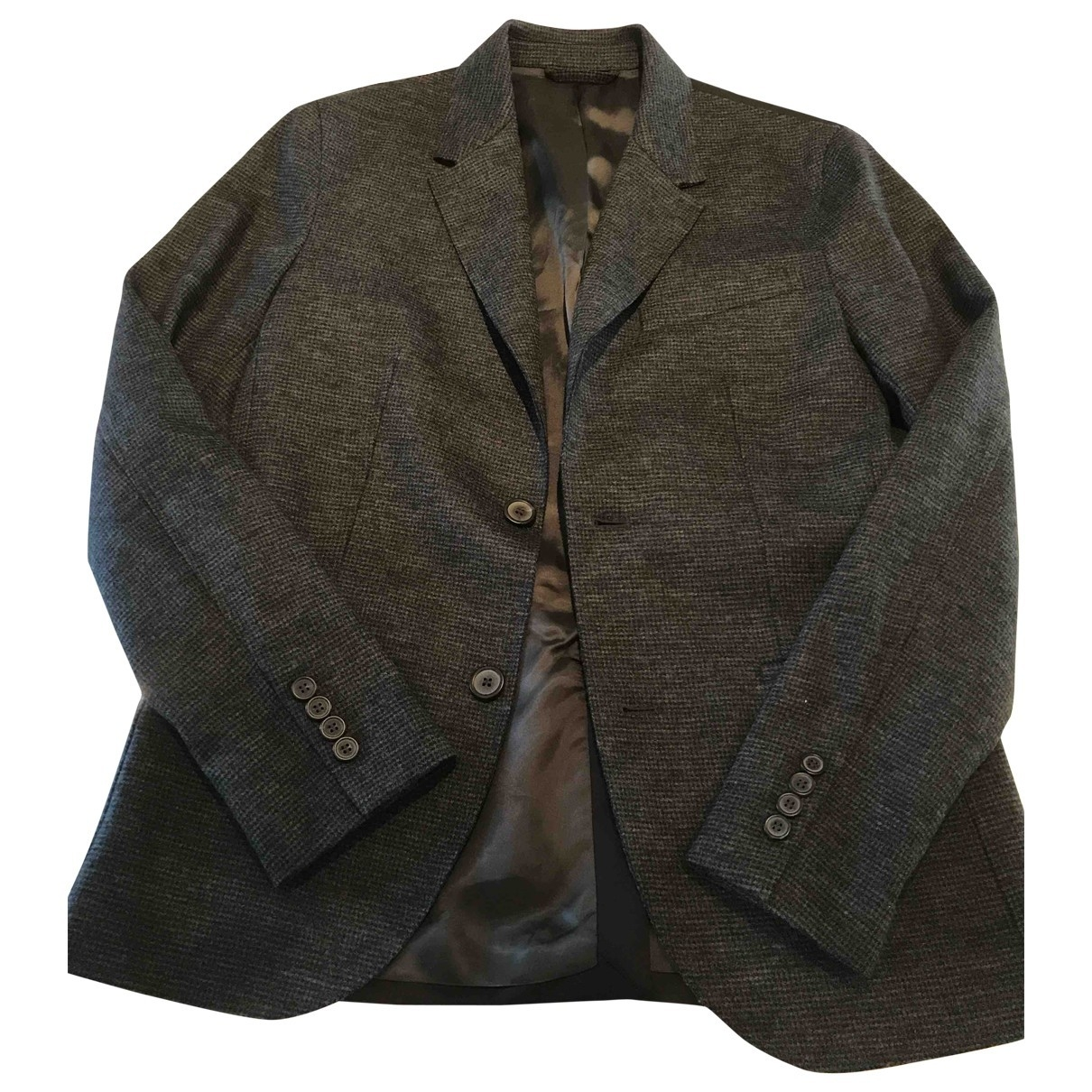Lanvin \N Anthracite Wool jacket  for Men 48 IT