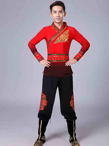 Milanoo Chinese Costumes Kung Fu Tang Suit Nice Carnival Costumes