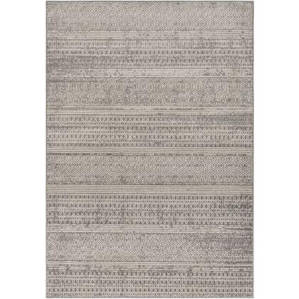 Chester CHE-2304 67 x 9 Rectangle Global Rug in Medium Gray  Khaki  Light