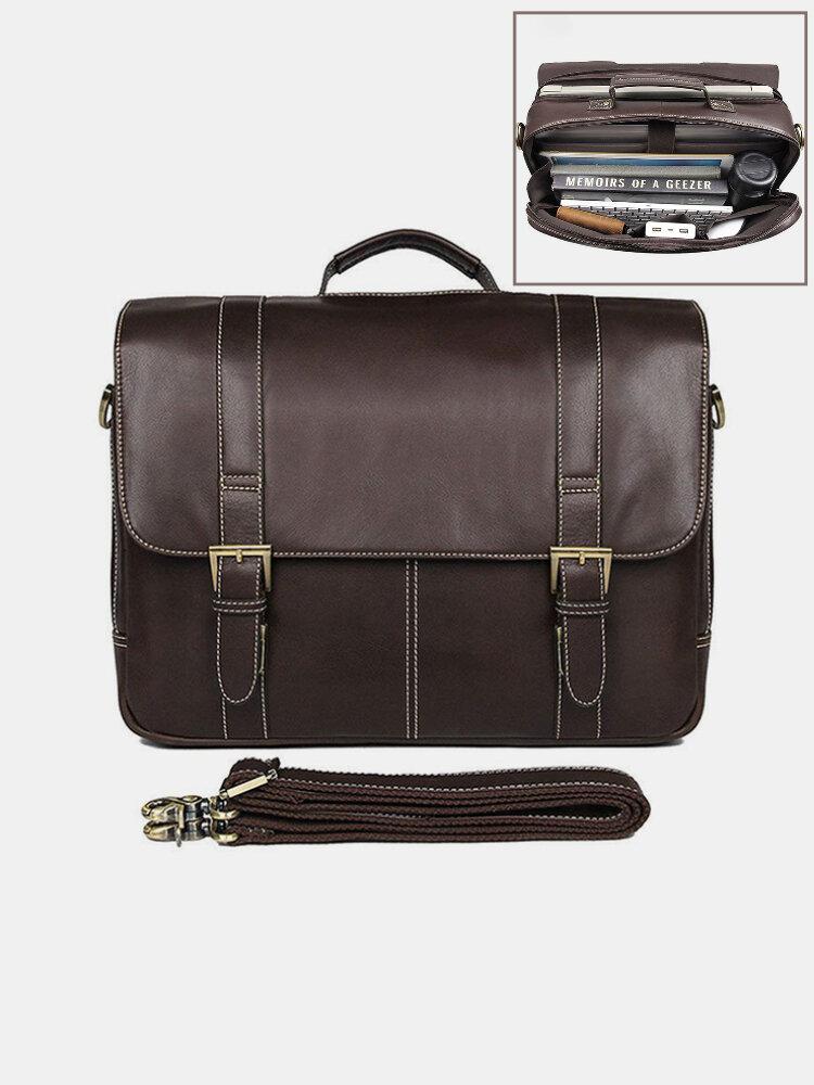 Men Multifunction 15.6 Inch Laptop Bag Briefcase Business Handbag Crossbody Bag