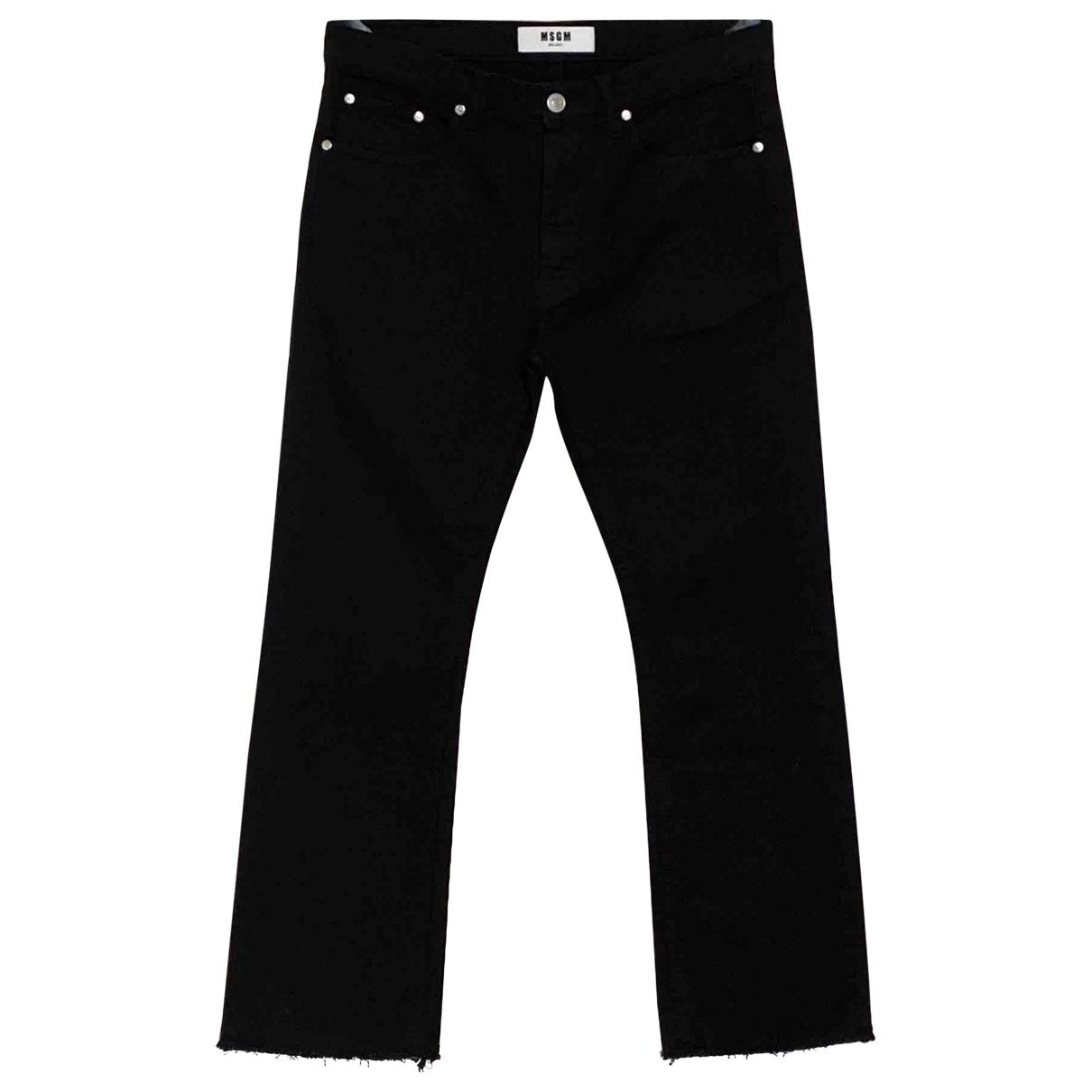 Msgm \N Black Cotton Jeans for Men 42 FR