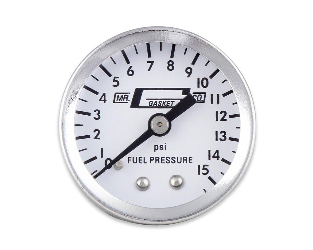 Mr. Gasket Fuel Pressure Gauge - 0-15 PSI - 1/2 Inch Diameter