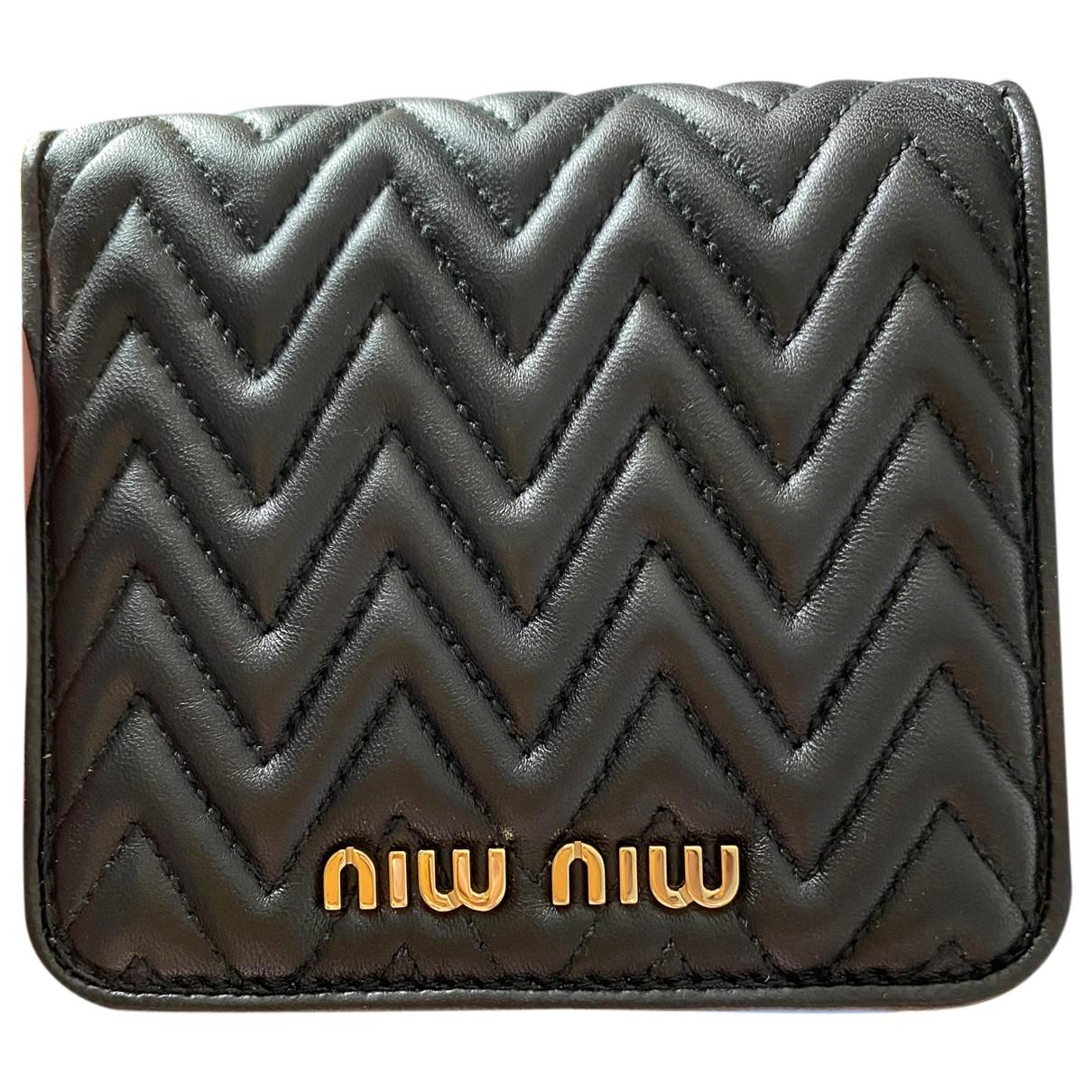 Miu Miu N Black Leather Purses, wallet & cases for Women N