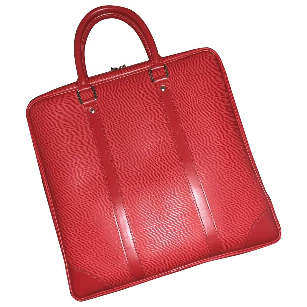 Louis Vuitton \N Red Leather bag for Men \N