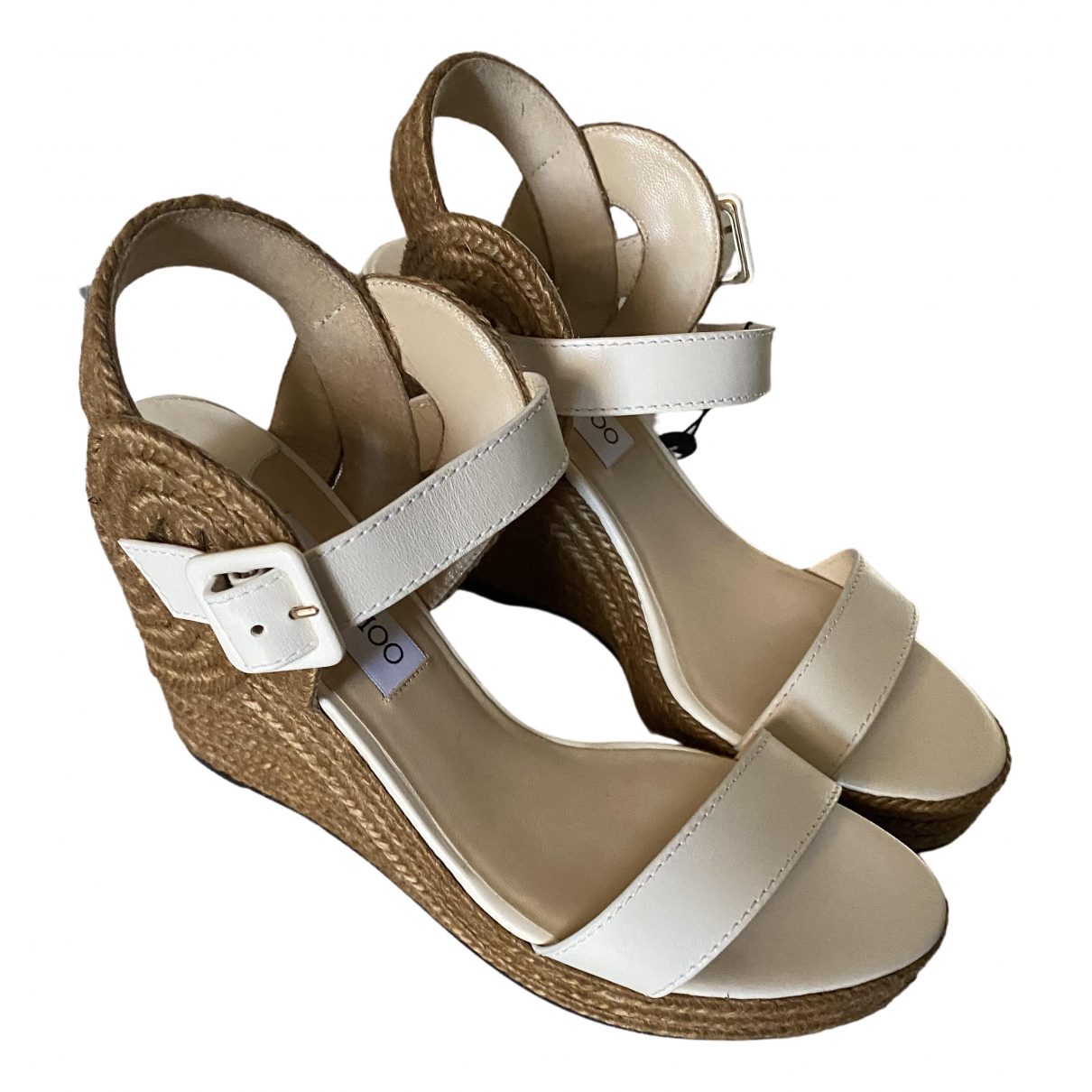 Jimmy Choo \N Sandalen in  Weiss Leder