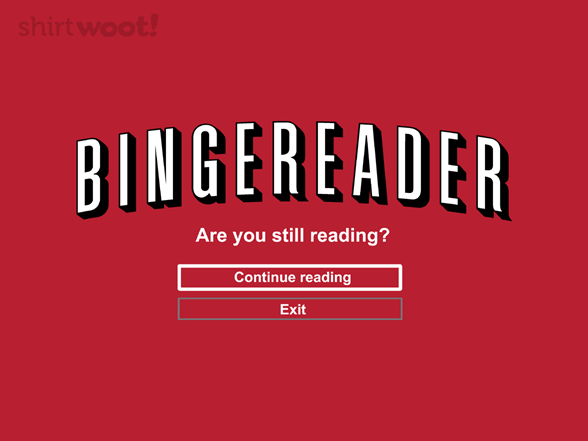 Bingereader T Shirt