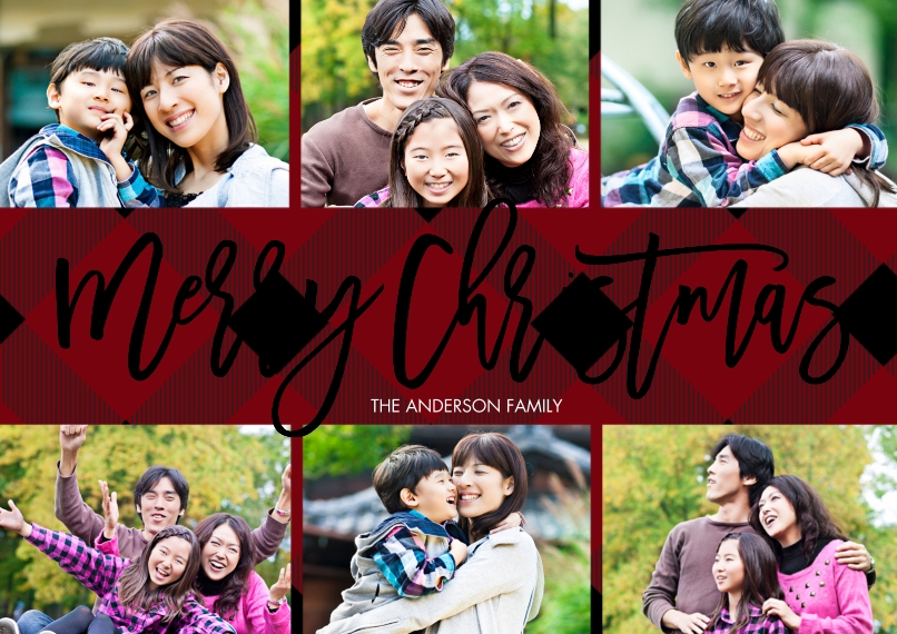 Christmas Photo Cards Set of 20, Premium 5x7 Foil Card, Card & Stationery -Christmas Foil Filmstrip Collage by Tumbalina