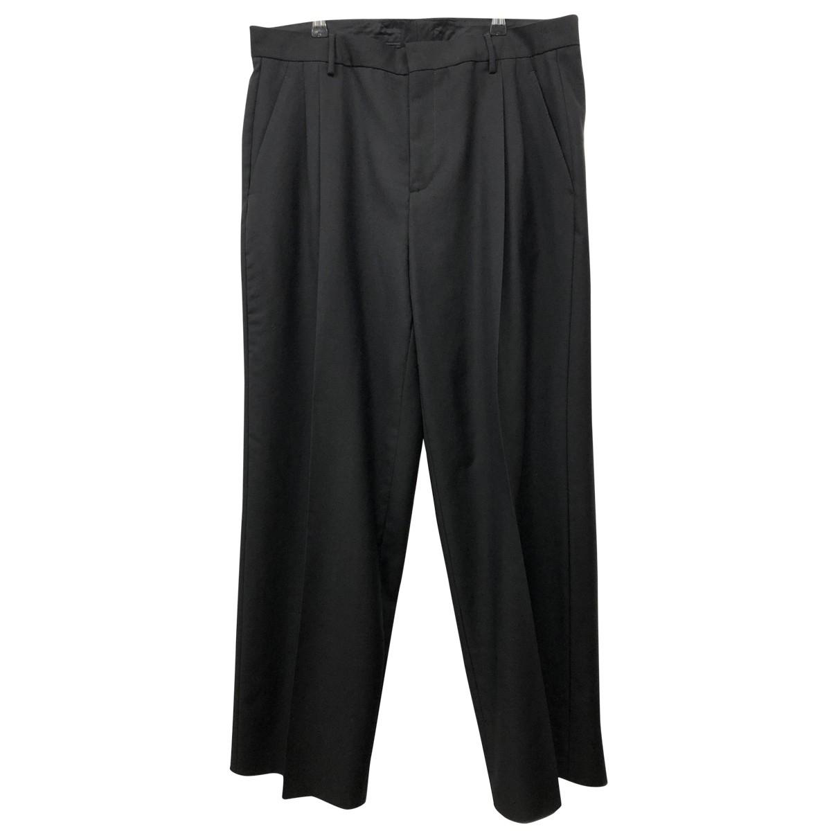 Loewe \N Black Wool Trousers for Men 52 IT