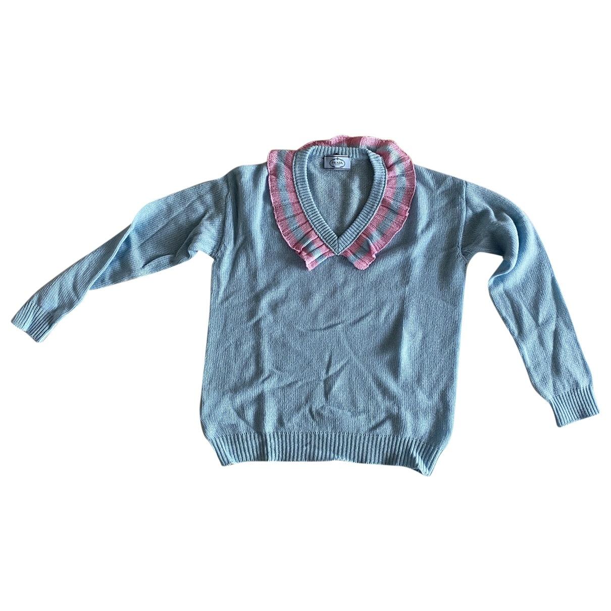 Prada - Pull   pour femme en cachemire - bleu