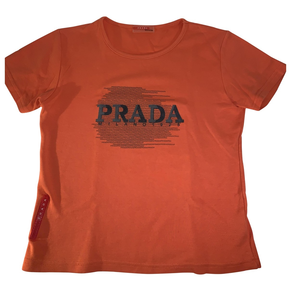 Prada \N Orange Cotton  top for Women 36 FR