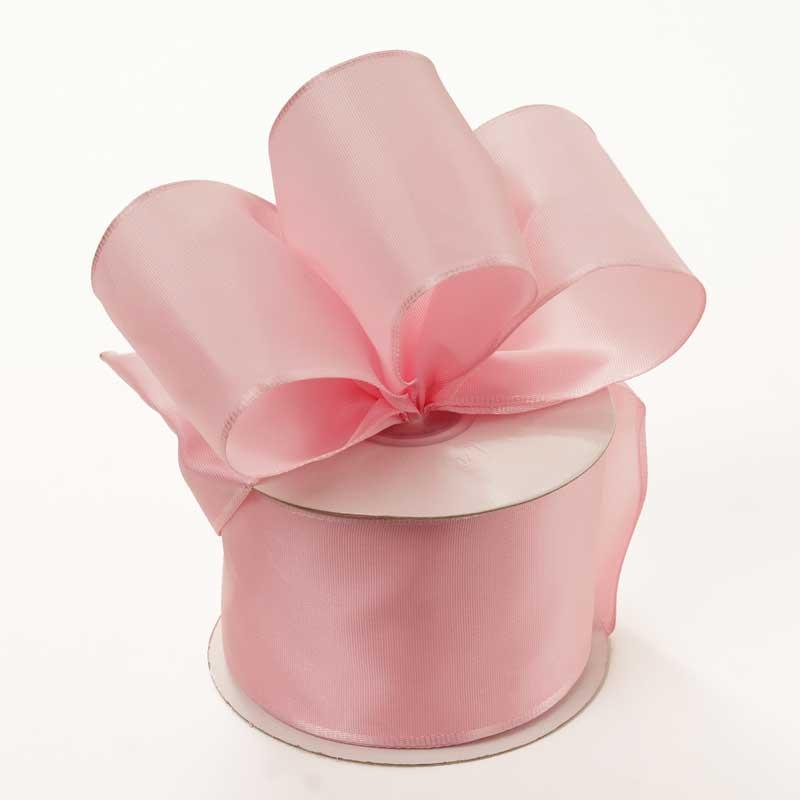 Grosgrain 1-1/2 X 50 Yards Pink Trevia Taffeta Wired Ribbon by Ribbons.com