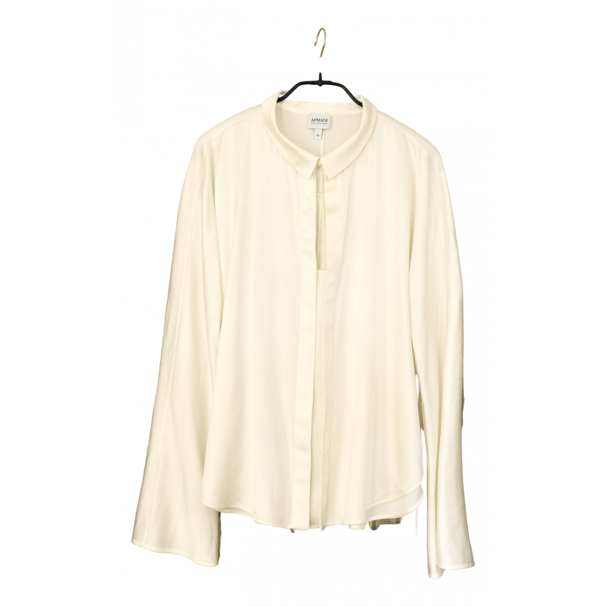 Armani Collezioni \N Ecru Silk  top for Women 42 IT